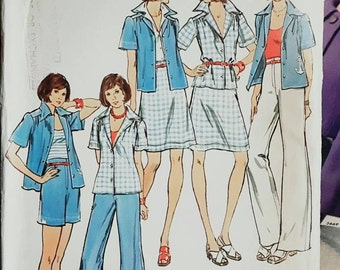 1974 Butterick Misses Top, Skirt,  Pants and Shorts Size 8 UNCUT FF Sewing Pattern ReTrO Summer!