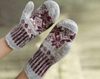 Womens wool mittens, Merino wool mitts, Warm wool gloves, Arm warmers wool, Gift for her, Organic wool mittens, Eco friendly mittens
