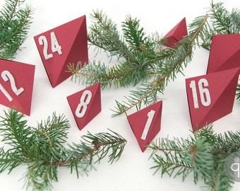 Quadu Advent Calendar Numbers – self-adhesive