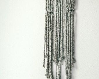 Woven wall hanging Bohemian earrings-Macrame wall hangin