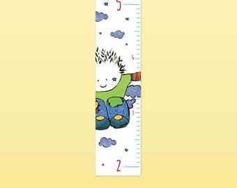 BUM - Growth chart, vinyl wall sticker, children decoration