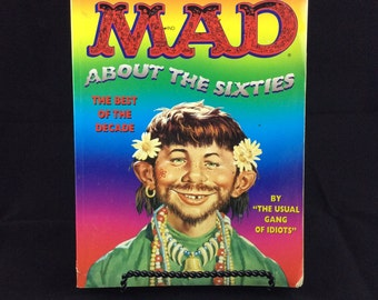 Mad About The Sixties the best of the decade Mad Magazine vintage paperback large book - vintage coffee table books