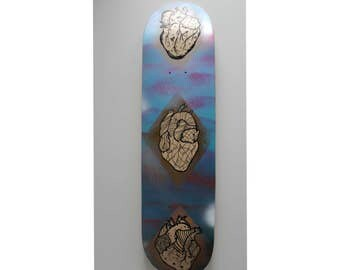Anatomical Heart Skateboard Deck (One of A Kind)