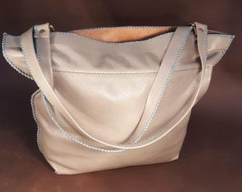 Shark Grey Slouch Bag