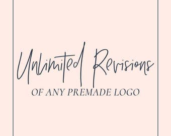 Add unlimited revisions to any premade logo design