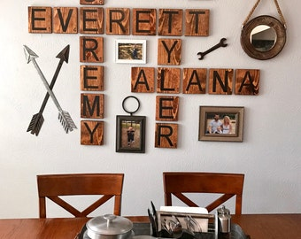 "Oversized Scrabble Tiles | Scrabble Wall Art | Scrabble Tiles | Choose Your Word""s"" 