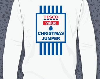 Tesco Value Christmas Jumper Sweatshirt