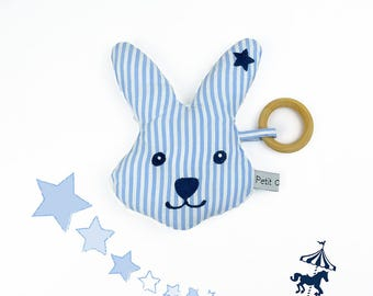 Rattle Blue Rabbit