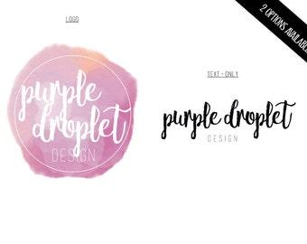 Logo Bundle, Watercolor Logo Set, Watercolor Droplet Logo, Custom Logo, Premade Logo, Logo Set