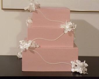 rose gold wedding card box gift card box wedding card box anniversary gift