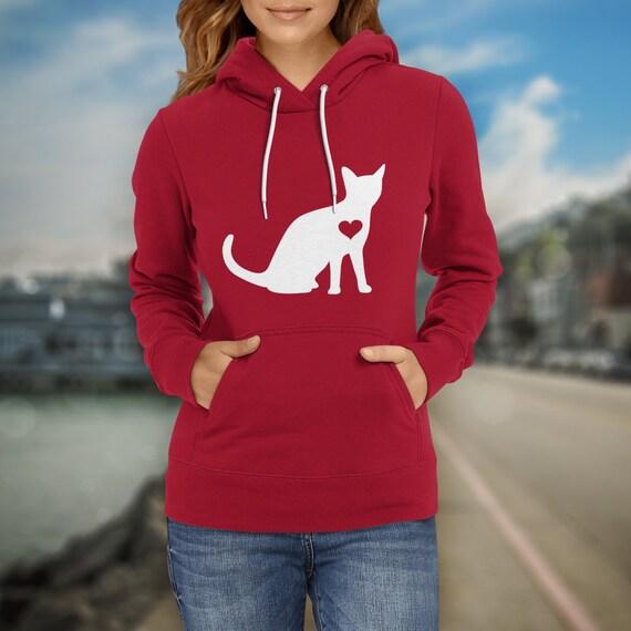 Cat Lover Hoodie / Kitty hoody / Kitty Cat Lover / feline gift / cat gift  / kitten clothing / kitty birthday party / crazy cat sweater