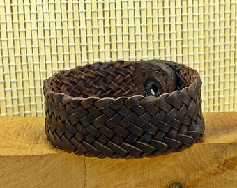 Leather bracelet. Leather braid. Braided bracelet. Bracelet braided. Twisted's 13.