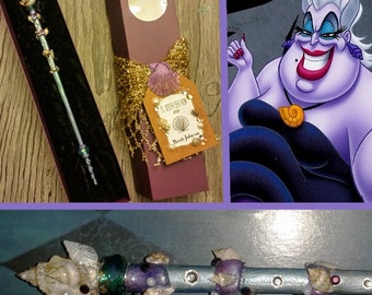 Sea Witch Magic Wand -- MADE TO ORDER (Harry Potter, Ursula, Disney, Cosplay, Ocean, Sea Shells)
