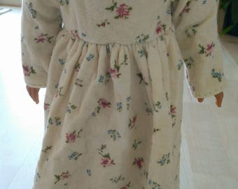 "18"" DOLL PAJAMAs NIGHTGOWN American Girl Cream Floral PJs Sleep Clothes Handmade"