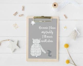 Daddy Gifts, Father's Day Gift, New Daddy Gift, First Time Dad Gift, Step Dad Gift, Nursery Room Decor, Nursery Wall Art, Kids Room Decor