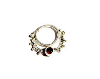 Septum Mae argent/ Ethnic septum/ Tribal adornment/ silver nose ring