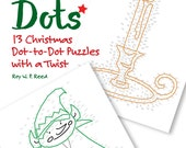 Christmas Dot to Dot Skip Counting Number Puzzles. 13 different puzzles for kids to learn math and adults to keep their brains sharp.