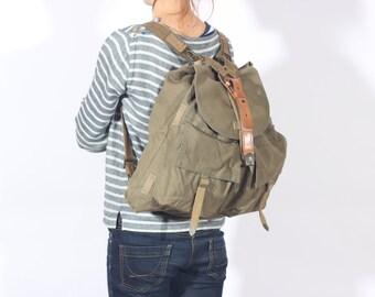 Travel Backpack, Canvas Backpack, Hipster Backpack, College Rucksack, Hippie Sack Bag