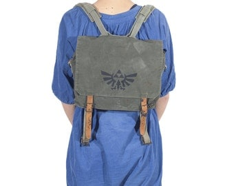 LEGEND OF ZELDA Grey Canvas Backpack