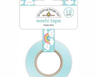 Happy Skies Washi Tape - 15mmX12YD - Fairy Tale Doodlebug