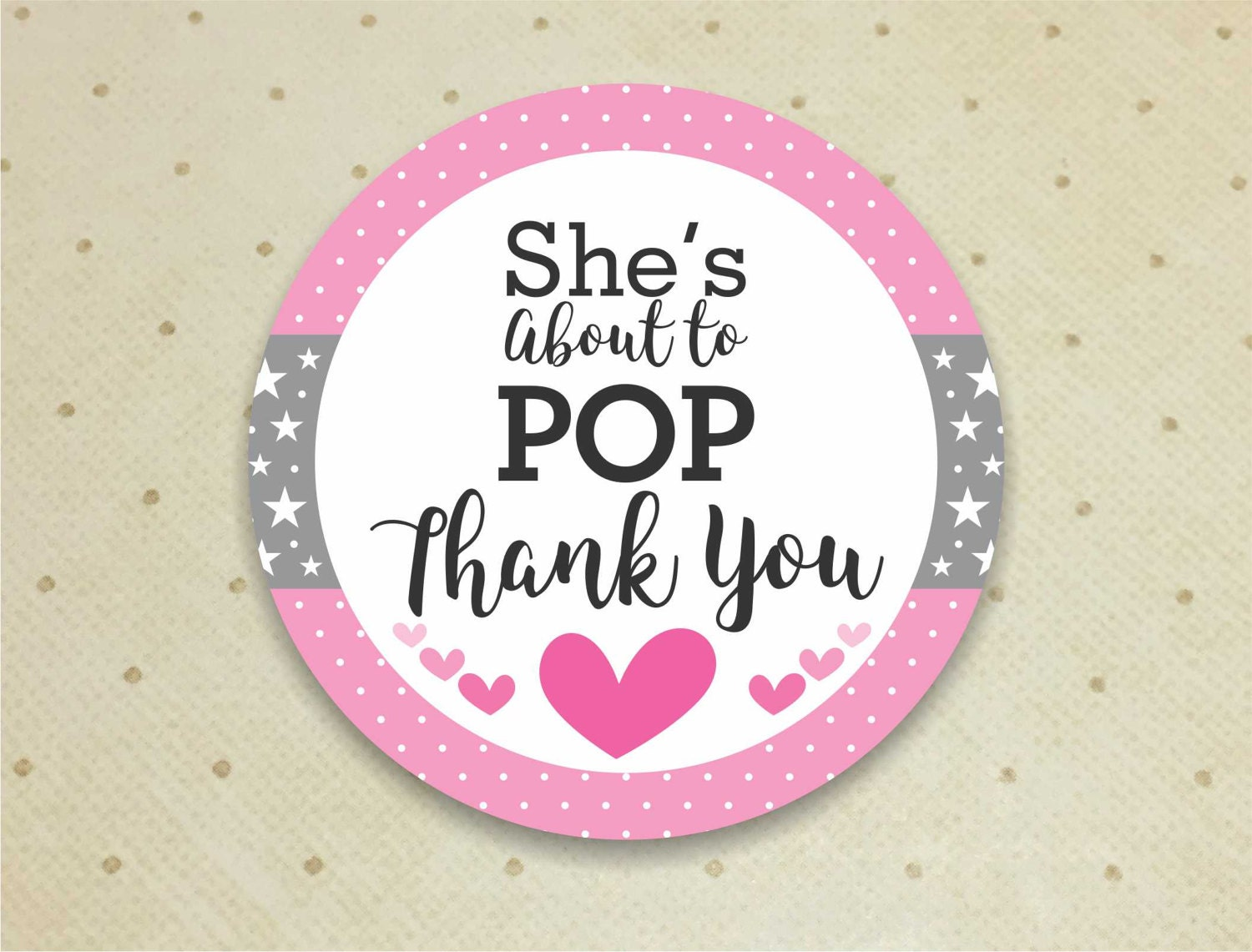 Printable baby shower favor thank you tags for girls she39s about to pop thank you tags baby for About to pop labels
