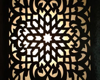 Applique wall Eastern copper Marrakech - great effect!