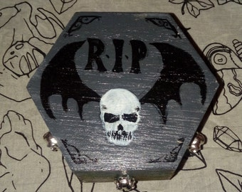 Graveyard Cemetery Gothic Jewellery Box Small