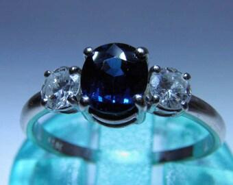 A stunning Sapphire & Diamond Trilogy Ring