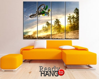 Motorcycle canvas, Motofristyle canvas, Motorbike canvas, Motorcycle art, Sport canvas, Motorcycle print art, Motorbike wall art, Sport art
