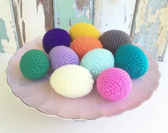 MADE TO ORDER - Crochet Easter Eggs play food