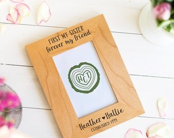 Gift for Sister, Maid of Honor Gift, First my Sister, Forever My Friend Picture Frame, Personalized Gifts, Bridesmaid Sister Birthday Gift