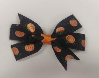 Halloween Themed Pinwheel Hair Bows