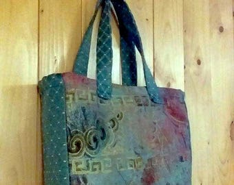 Turquoise lunch bag