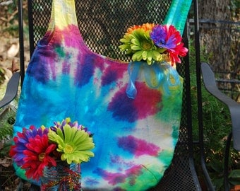 Tie Dyed canvas Hobo