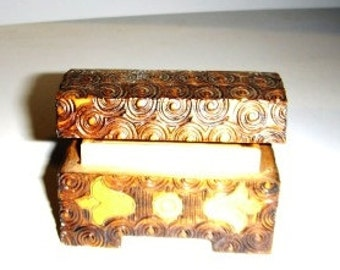 Miniature Carved Wooden Box