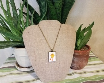 Cool Chick Cross Stitch Necklace