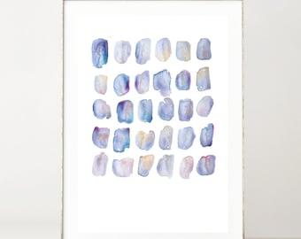 Watercolor Printable, Abstract Print, Purple Art, INSTANT DOWNLOAD, Abstract Watercolor Print, Minimal, Modern Wall Decor, Print to Download