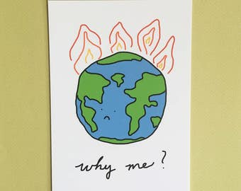 Earth On Fire Print