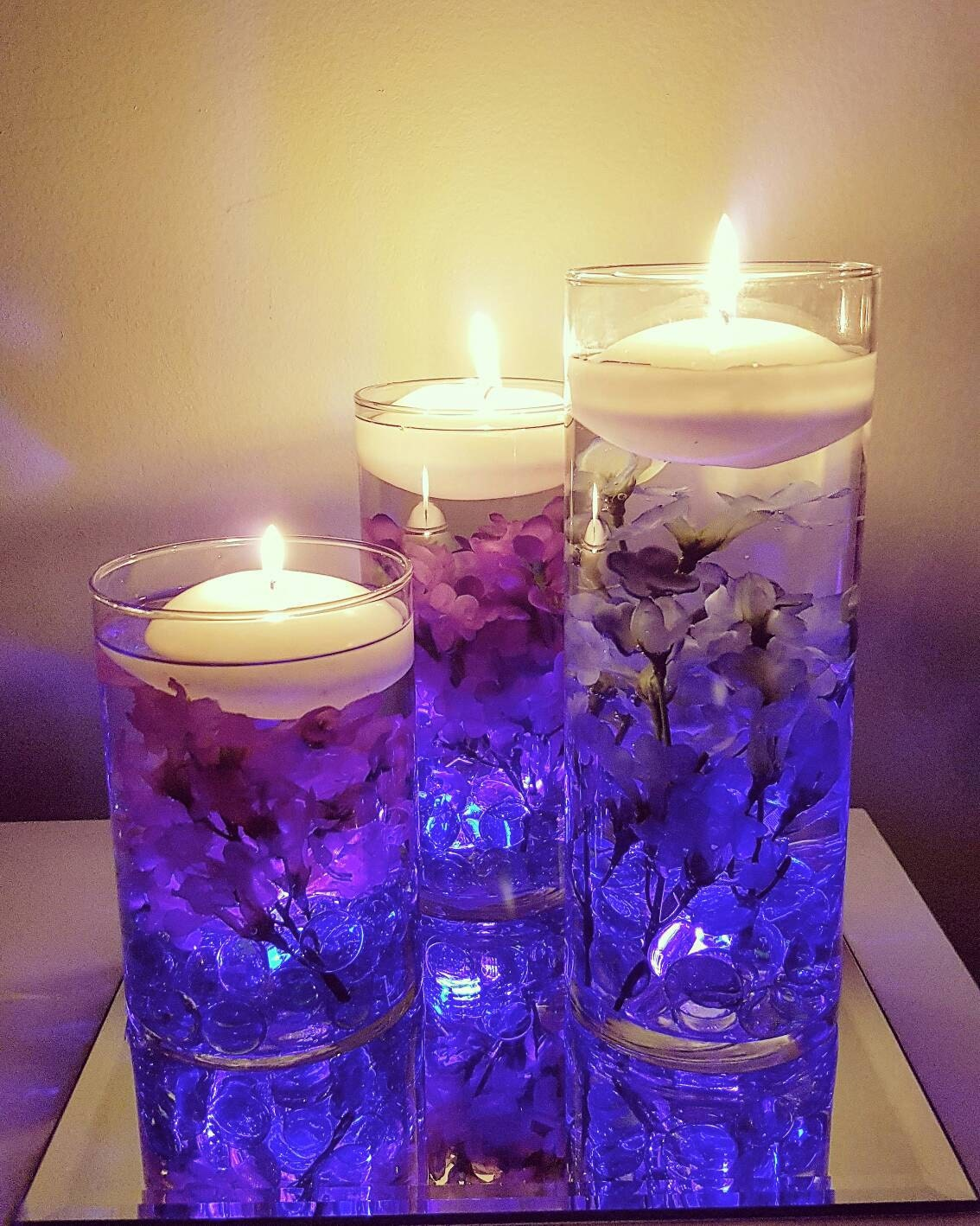 Purple Candle Centerpieces Wwwimgkidcom The Image