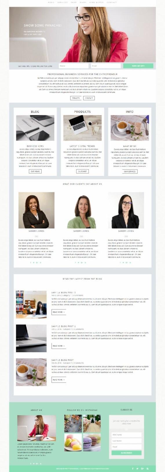 Panache divi custom wordpress theme business template for - Divi theme ecommerce ...