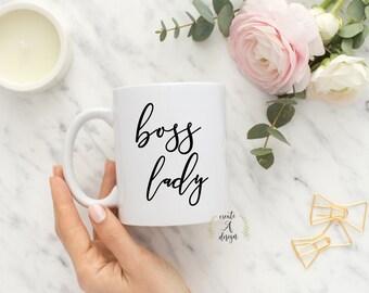 Boss Lady Mug   Gift For Boss, Boss Gift, Boss Coffee Mug, Office