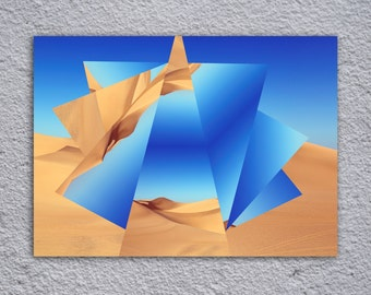 Desert Sand Art Framed Poster