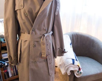 Men's lined trench coat by Moore's
