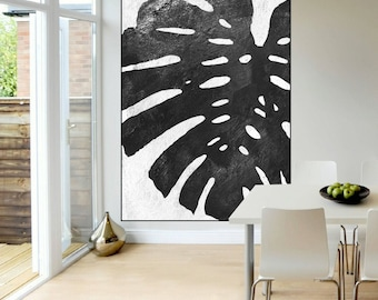 large canvas art, large original abstract painting on canvas, modern acrylic painting black and white, large abstract art,