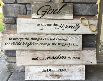 Wooden Serenity Prayer Sign
