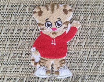 Daniel The Tiger inspired iron on patch, Daniel Tiger's Neighborhood inspired iron on patch