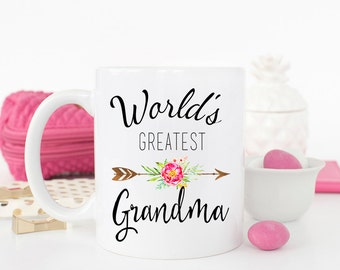 World's Greatest Grandma, Pregnancy Reveal to Grandma Gift, Grandma mug, Gift for grandma, Mothers day gift for Grandma, New Grandma Mug