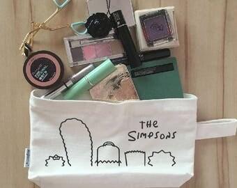 The Simpsons Canvas Zipper Makeup Pouch, Coin Purse, Cellphone Purse, Pen/Pencil Case
