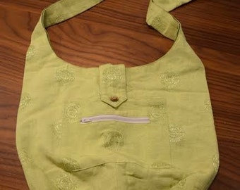 Thai Green Fabric Tote Bag