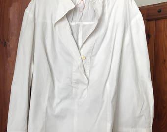 white poplin shirt by VANDEVORST - camicina bianca, di Vandevorst anni '90
